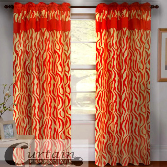 Curtain Essentials Jangury Red Set of 2