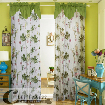 Curtain Essentials Peony Green Single Panel