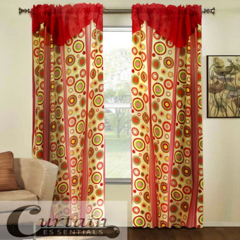 Curtain Essentials Pete Red Single Panel