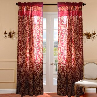 Curtain Essentials Royale Red Set of 2