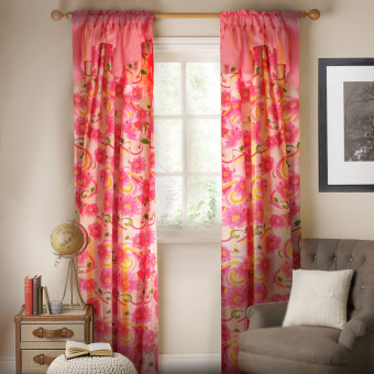 Curtain Essentials Samara Pink Single Panel