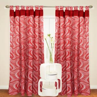 Curtain Essentials Tarragon Red Single Panel