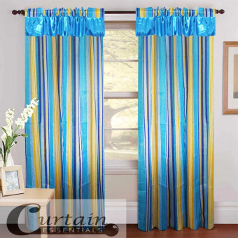 Curtain Essentials Woody Curtain (Blue) Double Panel Price Philippines