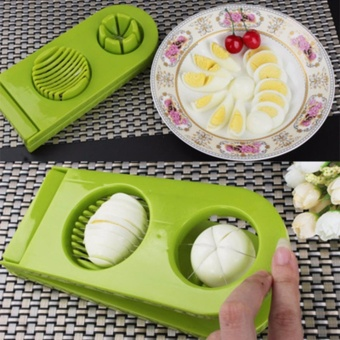 Cut Boiled Egg Cutter 2 In 1 Mold Slicer Sectioner Mushroom KitchenChopper 0.1kg