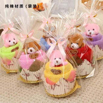 Cute Bear cup shape cake towel