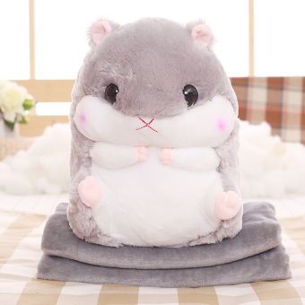 Cute blanket dual use children's air conditioning was doll pillow