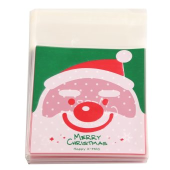 Cute Christmas Xmas Cookie Biscuit Gift Candy Party Filler Cellophane Bags 100 Pcs