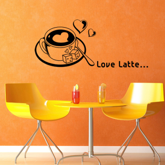 Cute coffee shop restaurant decorative adhesive paper wall stickers