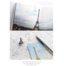 Cute Eiffel Tower Metal Clip BOOKMARK Note Book Marker Memo Stationery Gift