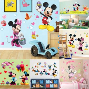 Cute Mickey Minnie Mouse Wall Sticker Vinyl Decal Kids Baby RoomDecor Mural DIY - intl - 3