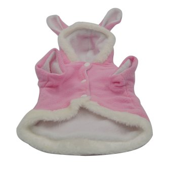 Cute Rabbit Pattern Pet Clothes Coat Apparel Accessory (Pink)