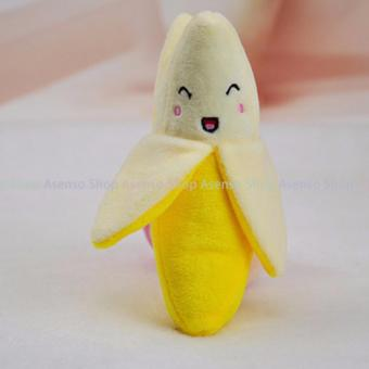 Cute Squeaky Plush Banna Dog Chew Toy