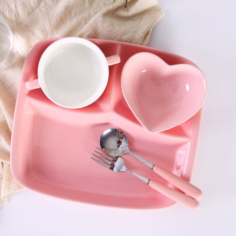 Cute student home seperated plate Separator Plate
