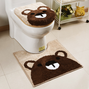 Cute toilet U-shaped mat toilet cover
