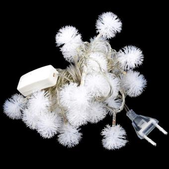 Cyber 5M 28 LED Fuzzy Ball String Fairy Light Christmas Xmas Party Wedding Decoration 100-220V EU Plug