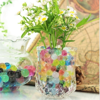 Cyber Fashion 5 bags 3g Cute Crystal Soil Gel Balls Beads Vase TankCenterpiece Decoration ( Red ) - intl