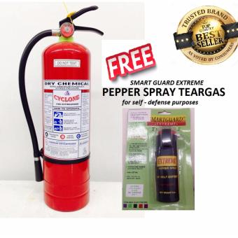 Cyclone Fire Extinguisher 10lbs ABC Dry Chemical (Red) with free pepper spray teargas Price Philippines
