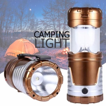 D&D New Retractable Outdoor Tent USB Solar Camping Lamp LED Lantern Light For Hiking Emergencies 6 LED Portable Lantern Lamp in Outdoor Lighting