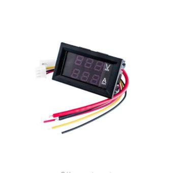 "DC 100V 0-100V 10A Digital Voltmeter Ammeter Dual Display Voltage Detector Current Meter Panel Amp Volt Gauge 0.28"" Red Blue LED Price Philippines"