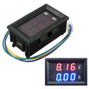 DC 4.5-30V 0-50A Dual Digital LED Volt Meter Ammeter Voltage AMPPower Meter 12V (Black) - Intl