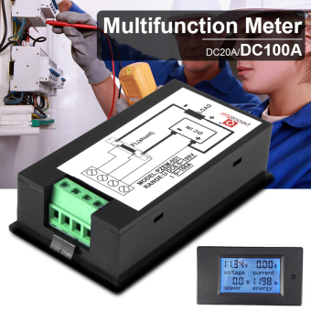 DC6.5-100V 20A LCD Digital Volt Watt Current Power Meter Ammeter Voltmeter BI510