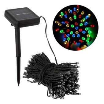 Decorative Solar Christmas Lights 100 LED Modes Fairy String Light for Outdoor Wedding Party Seasonal Decorations - intl