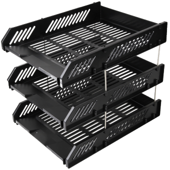 Deli plastic organizing data storage rack file Basket file holder