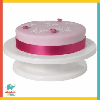 Delish Treats Cake Decorating Turn Table (White Turntable)