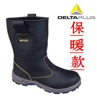 Deltaplus hight-top boots anti-smashing anti-wear stab protective shoes steel head safety shoes