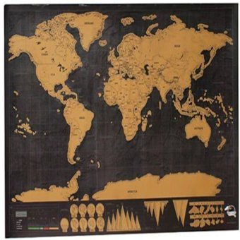 Where to buy deluxe travel edition scratch off world map poster deluxe travel edition scratch off world map poster personalizedjournal log gift 4 gumiabroncs Gallery