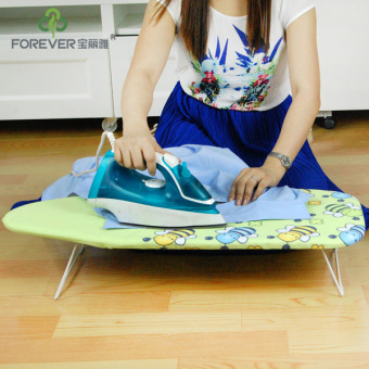Desktop electric iron folding ironing board