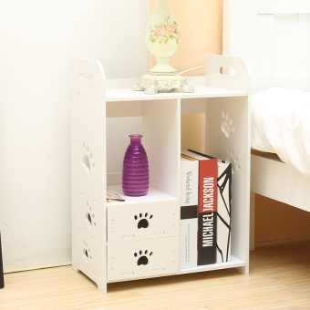 Desktop with drawer organizing shelf small bookcase