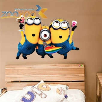 Despicable me 2 cute minions wall stickers for kids roomsdecorative adesivo de parede removable pvc wall decals - intl Price Philippines