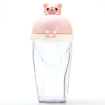 DHS Animal Lid Handy Cup Creative (Pink) (Intl)