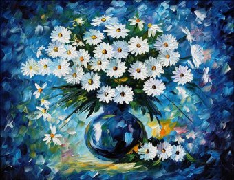 Diamond Painting Cross Stitch Diy Embroidery Color Flower PaintingRound Drill Diamond Mosaic Beads Pasted Needlework