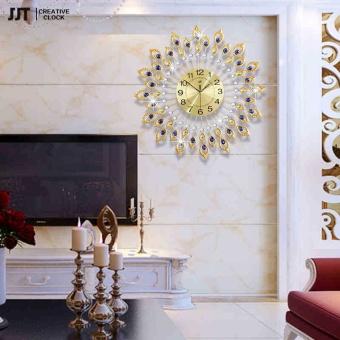 Diamond Peacock Luxury Decorations Mute Wall Clock - intl - 3