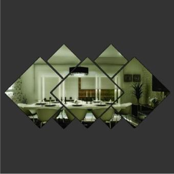 Diamond Shape Acrylic Mirror Silver Wall Sticker Mural Window Glass Tile Decal