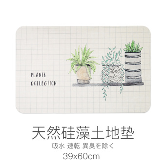 Diatom mud foot step on bathroom absorbent coaster mat