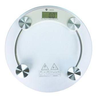 Digital Clear Tempered Glass Scales Body Weight Scale Floor Weighing Scales Electronic LCD Display kg/ib 5-150KG with Battery