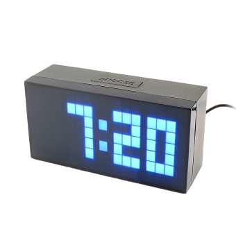 Digital Electronic Clock LED Alarm Clock 4 digits (Blue) Price Philippines