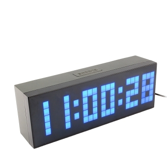 Digital Electronic Clock LED Alarm Clock 6 Digits With RemoteControl (Blue)