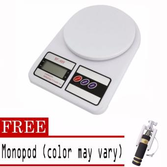 Digital Glass Kitchen Weighing Scale LCD 5KG / 1G with free Monopod(color may vary) Price Philippines