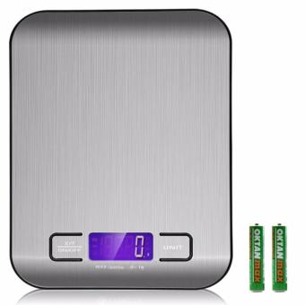 Digital Kitchen Scale Multifunction Food Scale, 11 lb 5 kg, Silver, Stainless Steel - intl