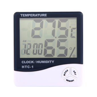 Digital LCD Hygrometer Thermometer Alarm Clock 3 In 1(ChargerIncluded) - 5