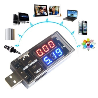 Digital LED USB Charger Tester Amp mA Charge Current Volt MeterMonitor Gauge - intl