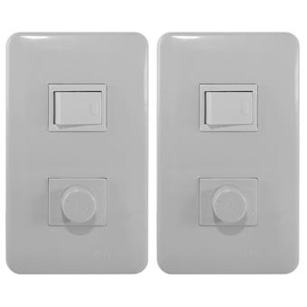 Dimmer Switch&1-Way Switch Plate-P2-S13/DM-PK 2pcs