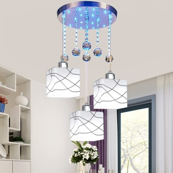 Dinning Room Ceiling Light Modern Simplicity Restaurant ChandelierThree  Head Creative Crystal Bedroom Living Room Hanging Lighting ...