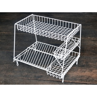 Dish Rack 4-2L DISH DRAINER DISH RACK KITCHEN ORGANIZER KITCHENWARE SPOON FORK PLATE CUP HOLDER PLATE DRYER