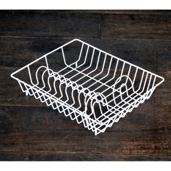 Dish Rack flat DISH DRAINER DISH RACK KITCHEN ORGANIZER KITCHENWARESPOON FORK PLATE CUP HOLDER PLATE DRYER