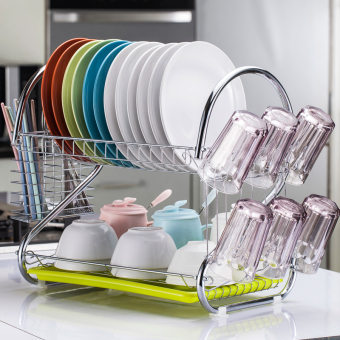 Dishes dishes dish rack kitchen shelf